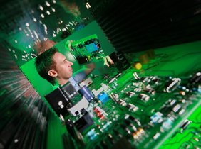 Dynamic commercial photograph for electronics company website