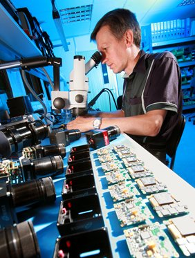 Location photograph of Essex based Electronics company quality control for magazine editorial